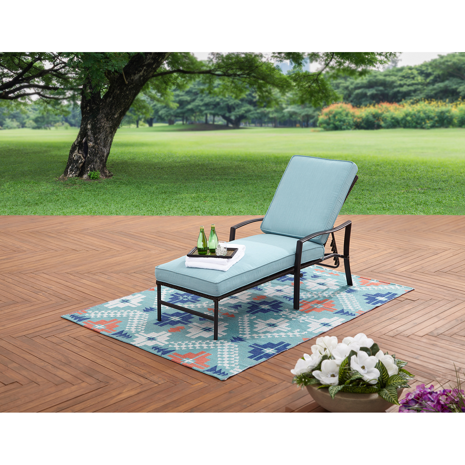Better Homes and Garden Piper Ridge Outdoor Chaise Lounge