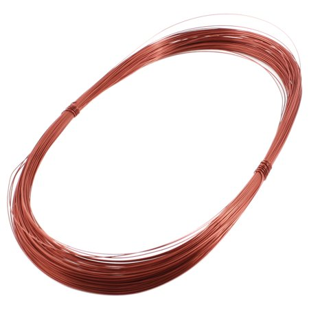Unique Bargains 0.44mm Copper Soldering Electric PPA Enamelled Winding Wire Coil 164ft (Electric Plastic Coil)