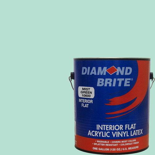 Diamond Brite 1 Gal. Flat Mist Green Latex Paint
