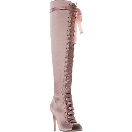 68f89e52a7f ALDO - Womens Aldo Cherisse Lace-Up Over The Knee Boots