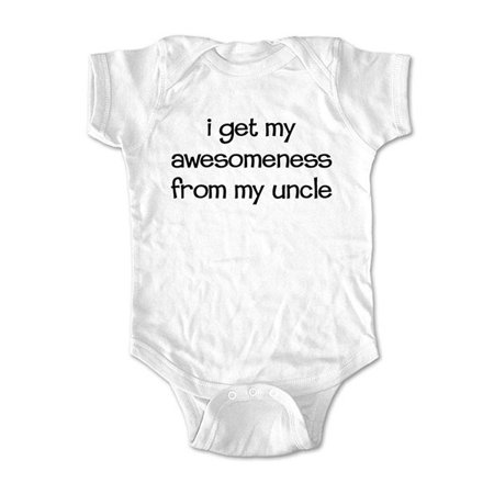 I get my awesomeness from my uncle - wallsparks cute & funny Brand - baby one piece bodysuit - Great baby shower (Things To Get For A Baby Shower)