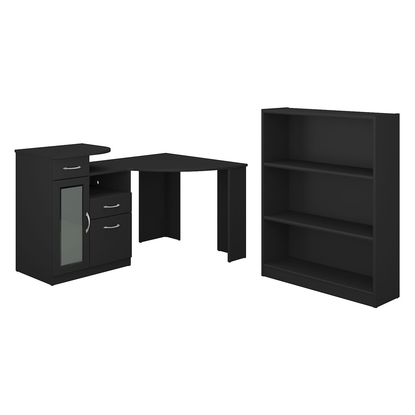 Bush Furniture Vantage Corner Desk And Bookcase Set