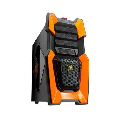 COUGAR Challenger Orange Steel ATX Computer Case with 12cm COUGAR TURBINE HYPER-SPIN Bearing Silent Fans and 20cm LED Fan-Challenger-O