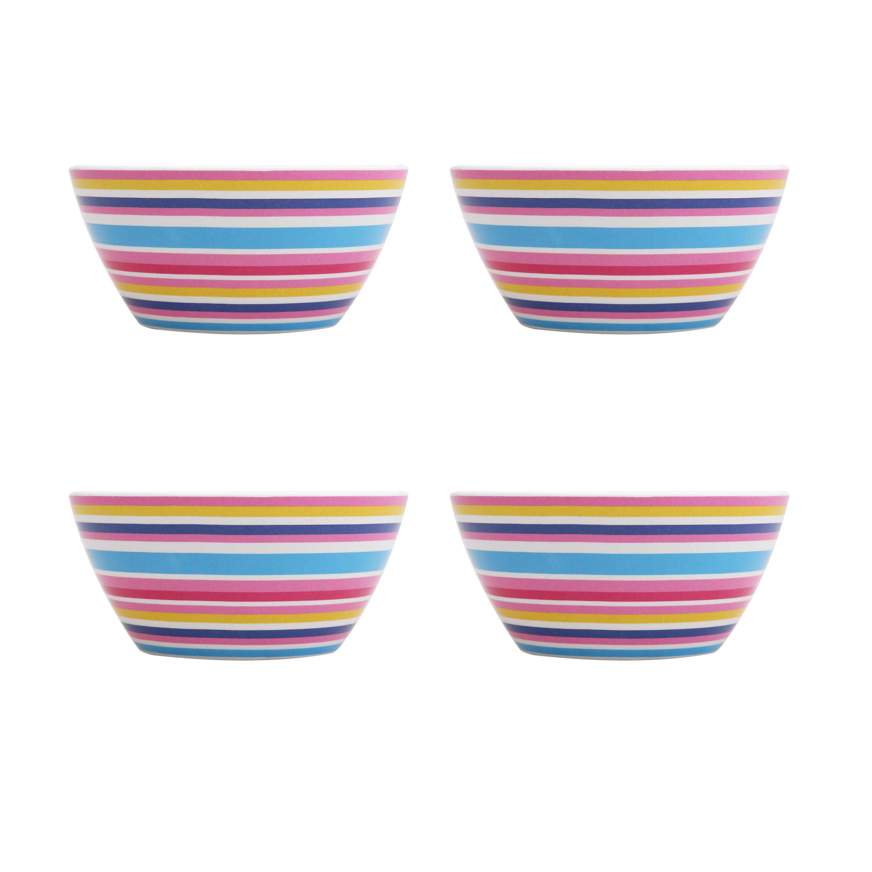 Mainstays Kids Melamine Bowls, 4 Pack, Multiple Prints