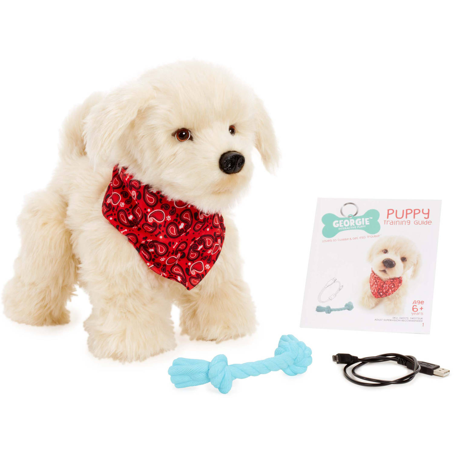 Georgie Interactive Plush Electronic Puppy