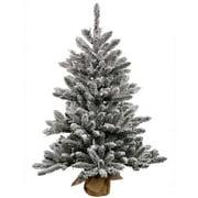"Vickerman 24"" Flocked Anoka Pine Artificial Christmas Tree, Unlit"
