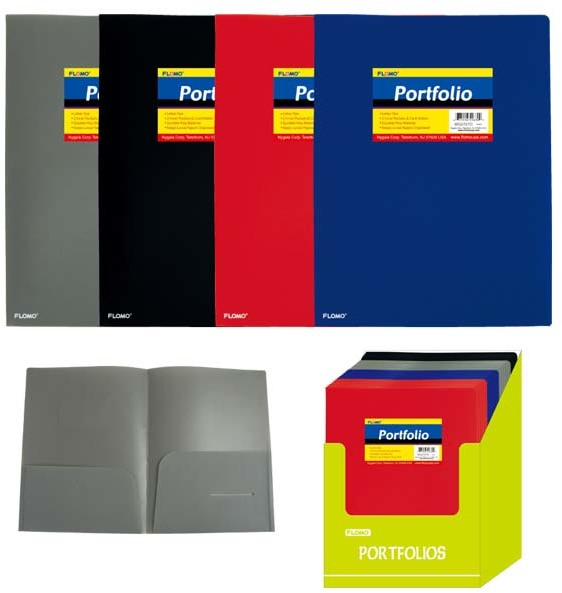 Poly Portfolio Folder with Two Inner Pockets (Style #27D)...