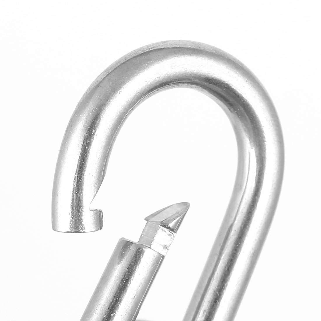 4mm Thickness 304 Stainless Steel Spring Carabiner Snap Hook Camping Keyring - image 1 de 3