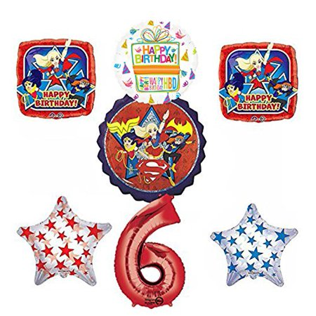 DC Super Hero Girls 6th Birthday Party Supplies and Balloon Decorations - Superhero Party Ideas