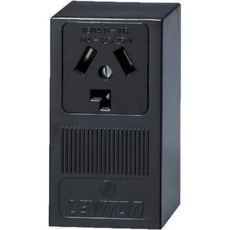 Leviton 835-05054-000 SURFACE DRYER OUTLET - BLACK -