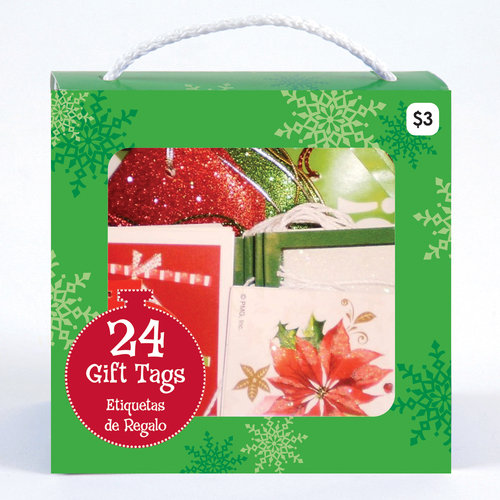 Holiday Time Purse Tags, Red/Green, 24-Pack