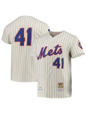 Tom Seaver New York Mets Mitchell & Ness Cooperstown Collection Authentic Jersey - Cream