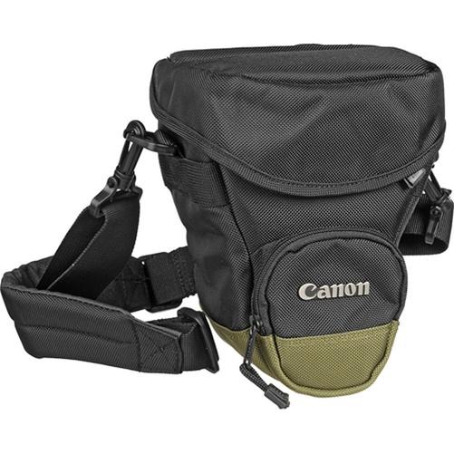 Canon Zoom Pack 1000 Holster Type Camera Bag - Nylon - Black, Olive Green