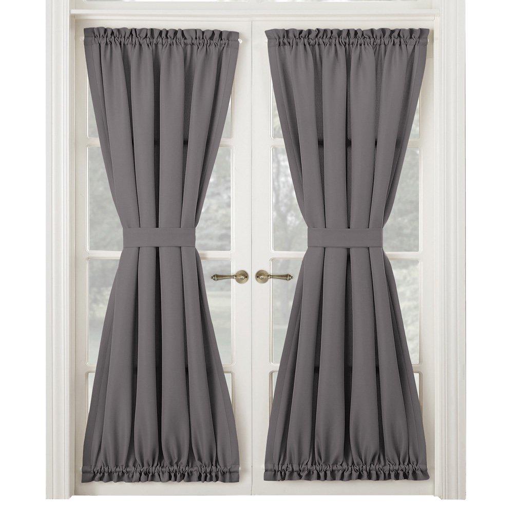 Montego Door Curtain Panel, French Door Drapes, Middle Tie Back, Rod Pocket,