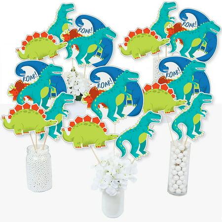 Roar Dinosaur - Dino Mite T-Rex Baby Shower or Birthday Party Centerpiece Sticks - Table Toppers - Set of 15](Dinosaur Centerpiece Ideas)
