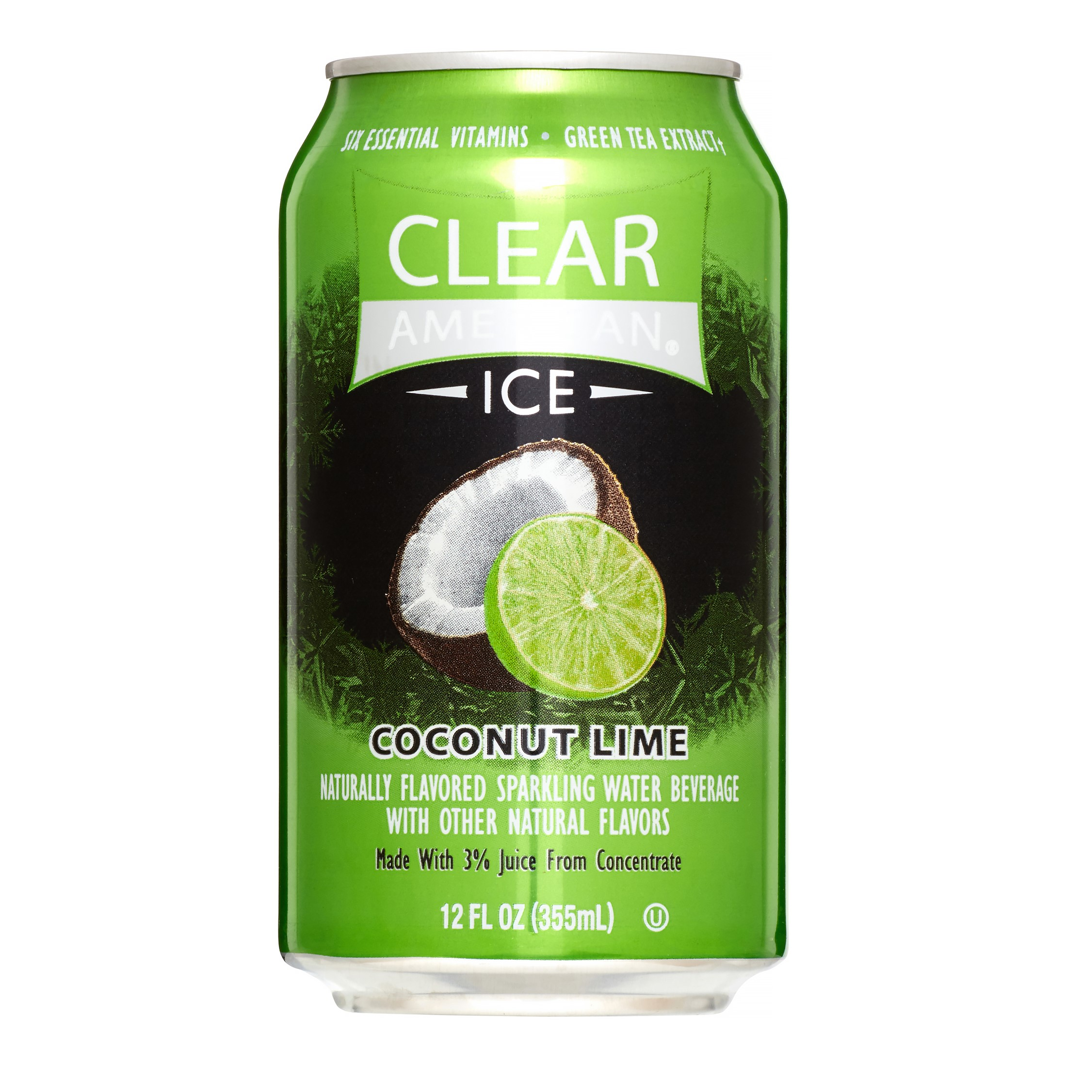 Clear American Ice Coconut Lime Flavored Sparkling Water, 12 fl oz, 8 pack by Clear American