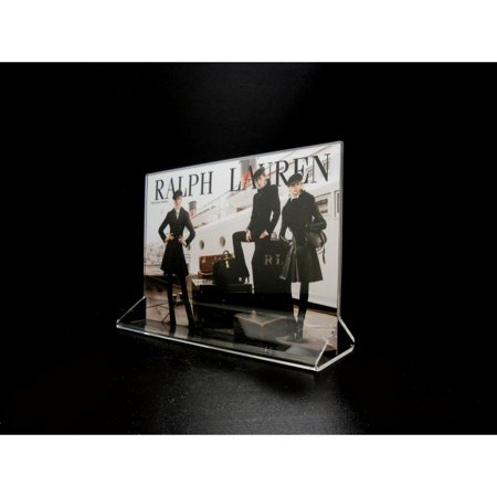 """Acrylic Top Loading Display Sign Holder 7"""" x 5"""" (Pack of 10)"""