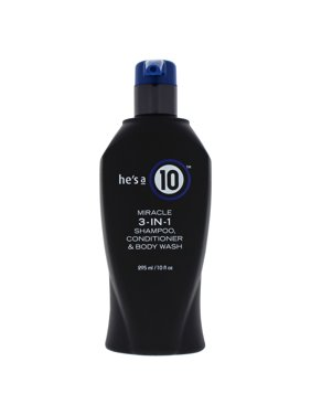 It's a 10 He's a 10 Men's 3-In-1 Hair Shampoo, Conditioner, and Body Wash, 10 Oz