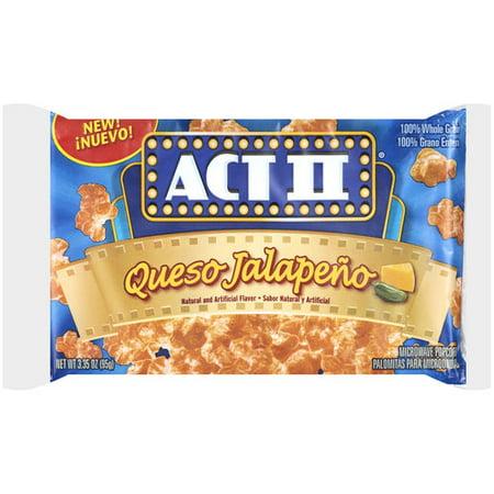 Act Ii Queso Jalapeno Microwave Popcorn 3 35 Oz