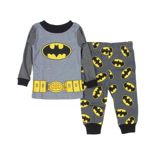 DC Comics Batman Baby Boys' Utility Belt Long Sleeve Pajamas (18M)