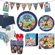 Party City PAW Patrol Adventures Tableware Party Supplies for 16 Guests, Includes Plates, Napkins, Cutlery, and More