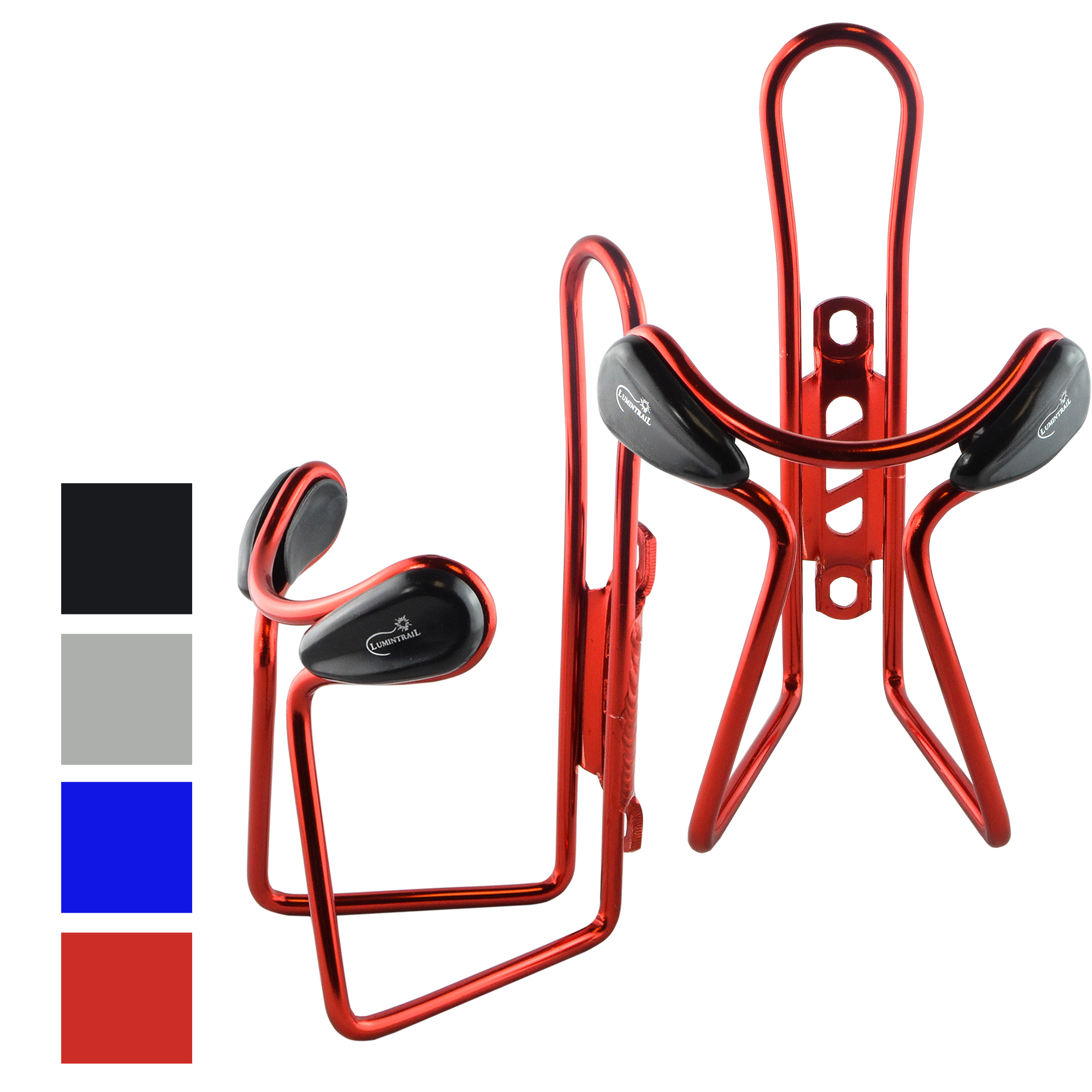 Lumintrail 2 Pack Bike Bottle Holders Lightweight Aluminum Alloy Bicycle Water Cage