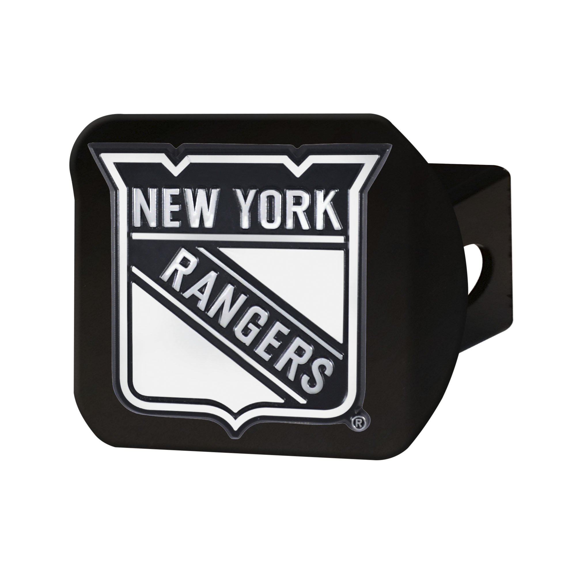 "New York Rangers Black Hitch Cover 4 1/2""x3 3/8"""