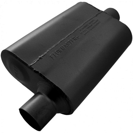 Flowmaster 942541 40 Delta Flow Muffler - 2.50 Offset In / 2.50 Center Out - Aggressive Sound