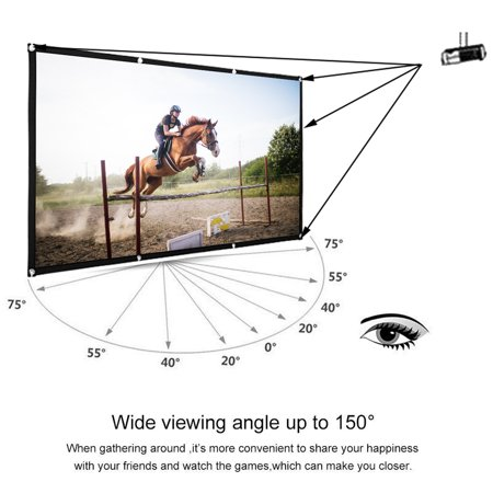 2PCS 84inch Projector Screen 4:3 HD High Contrast 4K Home Cinema Indoor/ Outdoor  Backyard Movie Projection Suitable For Christmas Party - image 3 of 5