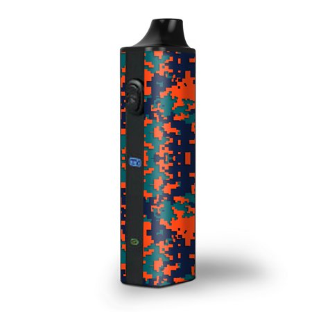 Digi Camo Handle - Skin Decal for Pulsar APX Herb Vape / Digi Camo Team Colors Camouflage Orange Teal