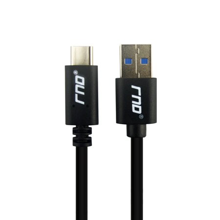 Rnds Usb C To Usb A  3 0  Long Fast Charger Cable  6Ft  With 56K Ohm Pull Up Resistor For  Google  Pixel  Pixel Xl   Htc  Lg  Oneplus  Samsung Galaxy  S8  S8 Plus  And All Type C Devices  Black