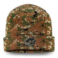 Columbus Blue Jackets Fanatics Branded Authentic Pro Military Appreciation Cuffed Knit Hat - Camo - OSFA