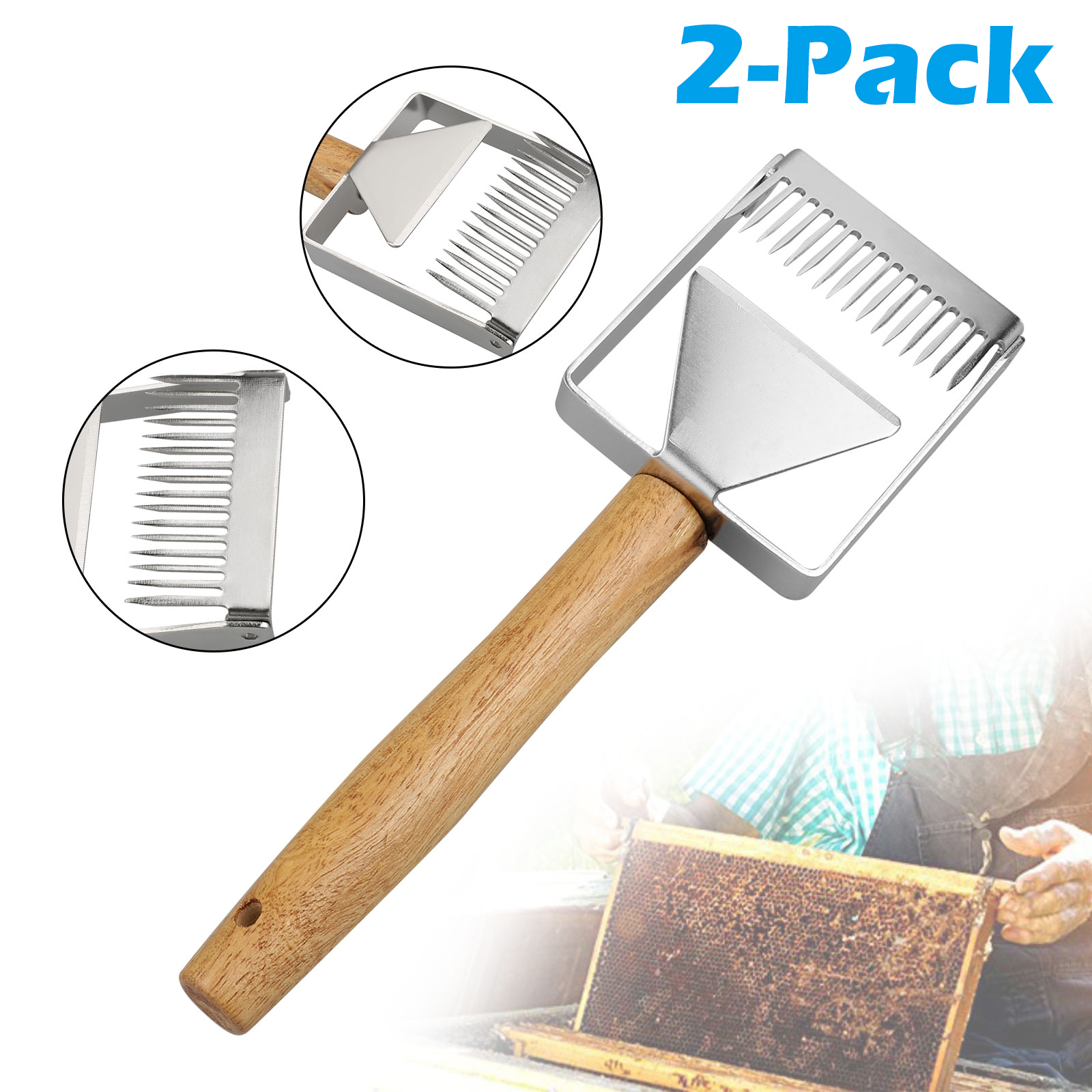 Garden supplies Stainless Steel  Uncapping fork Beekeeping Tool Honey Scraper