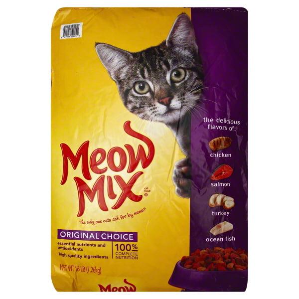 Meow Mix Original Choice Dry Cat Food, 16 Lb by Big Heart Pet Brands
