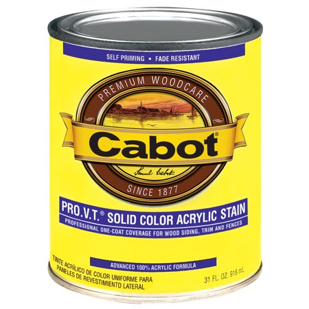 Cabot 800 Self Priming Water Based Solid Color Siding Stain  1 Qt  Brown  Medium Base