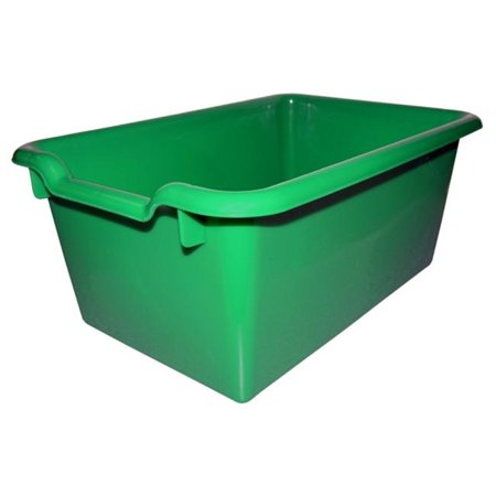 Early Childhood Resource ELR-0482-GN Tote Bin with Scoop Front - Green Early Childhood Mobile Organizers