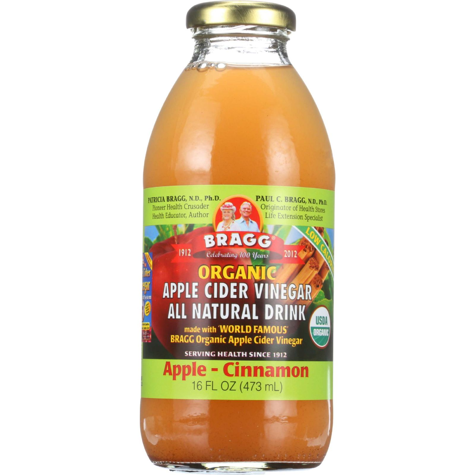 Bragg Apple Cider Vinegar Drink Organic Apple-Cinnamon 16 oz case of 12 by