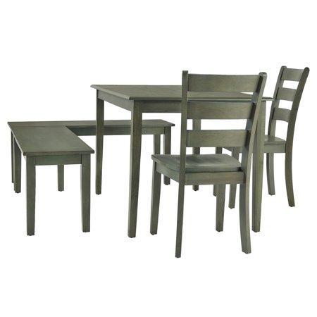 Weston Home Lexington 5-Piece Breakfast Nook Dining Set, Rectangular Table, Multiple Colors