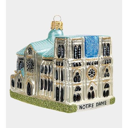 Pinnacle Peak Trading Co Pinnacle Peak Glass Notre Dame Cathedral Paris France Christmas Ornament - Halloween Tree Notre Dame