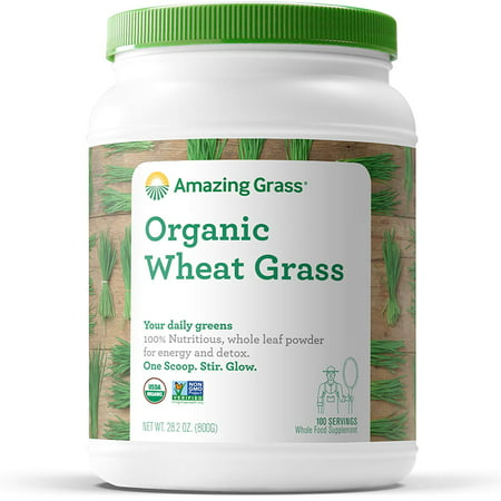 - Amazing Grass Organic Wheatgrass Powder, 1.8 Lb