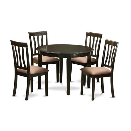 East West Furniture BOAN5-CAP-C Small Kitchen Table & 4 Chairs, Cappuccino