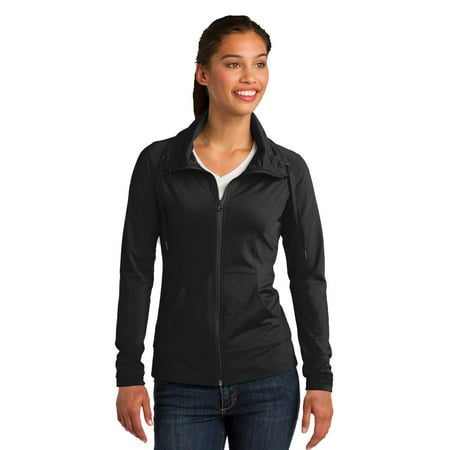 Sport-Tek Ladies Sport-Wick Stretch Full-Zip Jacket