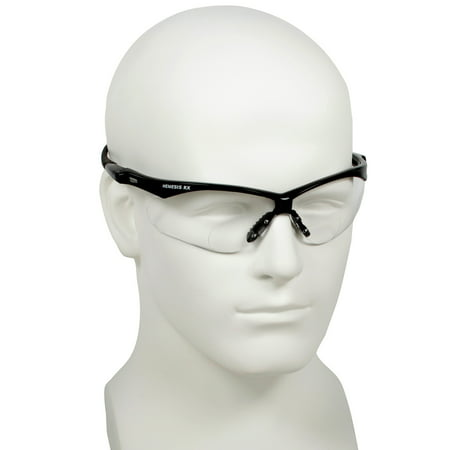 Safety Neck Cord (Jackson Nemesis Bifocal Safety Glasses - Black Frame 1.0 Clear Lens, Neck Cord, and Lens Cleaning)