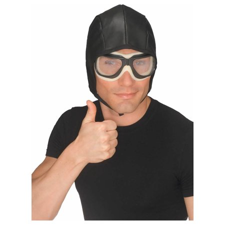 Aviator Helmet & Goggles Set Rubies 49162