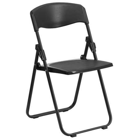 Flash Furniture HERCULES Series 880 lb. Capacity Heavy Duty Plastic Folding Chair with Built-in Ganging Brackets, Multiple