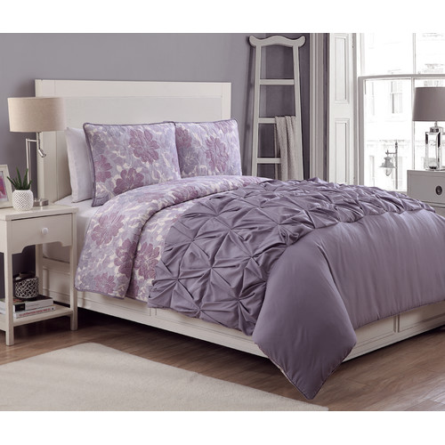 American Home Fashion Crest 4 Piece Reversible Comforter Set