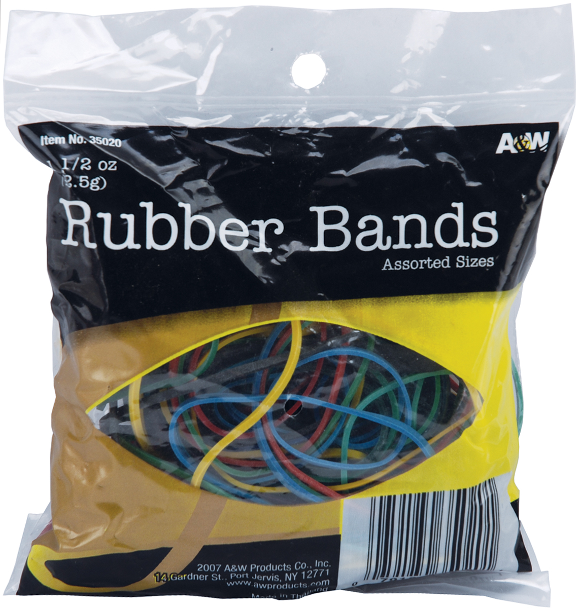 A&W 1.5 Oz Assorted Color Rubber Band (Set of 12)