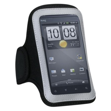Insten Pouch Case Black Sport Armband For LG Realm Joy Escape 2 Motion 4G Optimus Elite Optimus M+ Transpyre F70 Lucky Sunrise Optimus Exceed Optimus F3 (Lg Optimus F70)