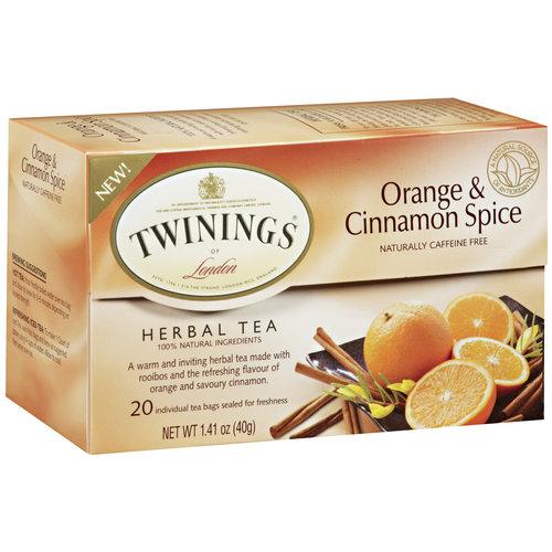 Twinings of London Orange & Cinnamon Spice Herbal Tea Bags, 20 count, 1.41 oz