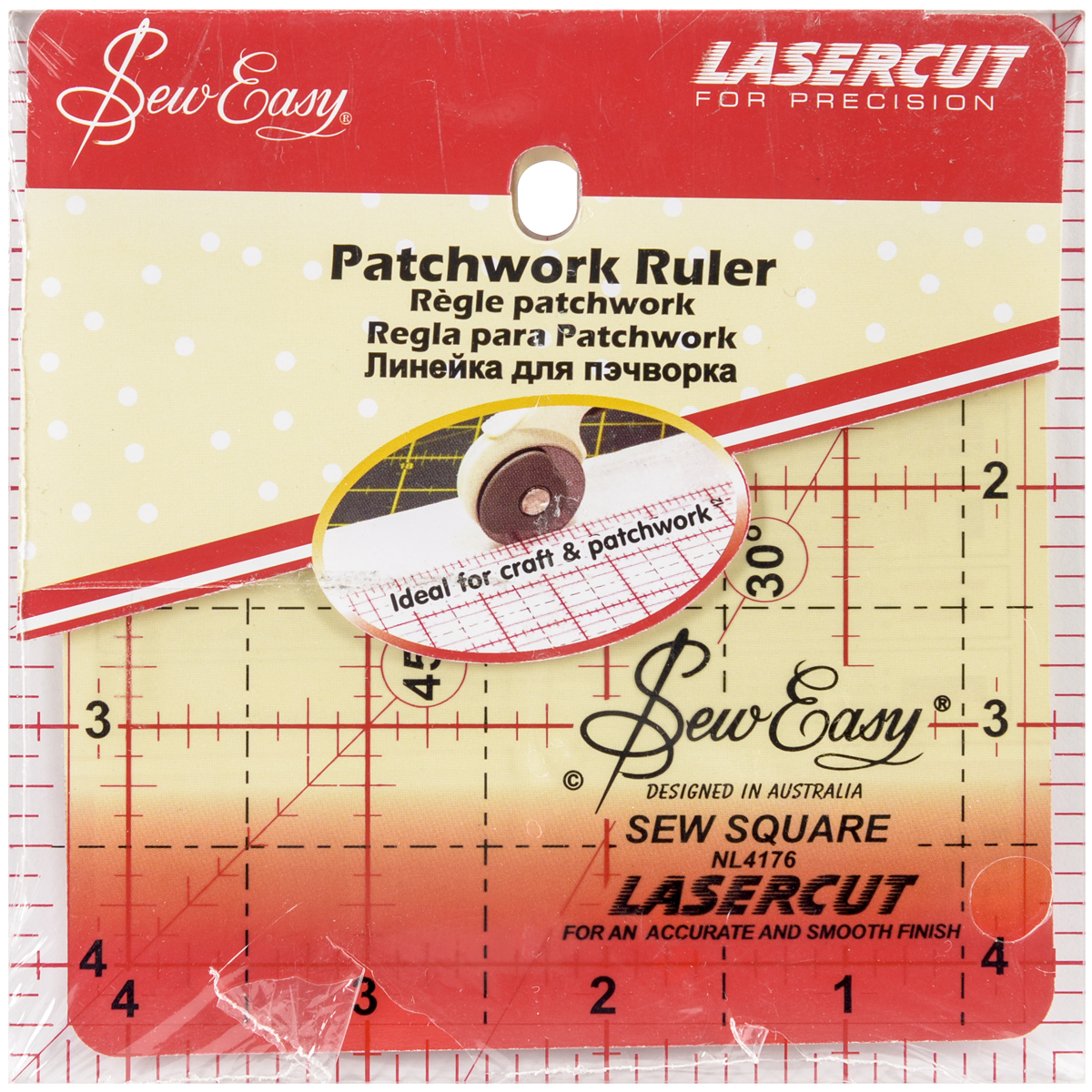 "SewEasy Square Quilt Ruler-4.5""X4.5"""